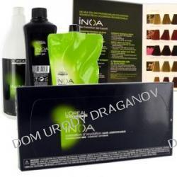 Loreal Inoa Starter, zestaw: 8x6 tubek Inoa + aktywatory + Oleo żel + Inoa Post szampon + paleta kolorów