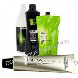 Loreal Inoa Supreme, zestaw do koloryzacja włosów siwych: farba 16g + aktywator 60g + oleożel 40g + szampon 25ml