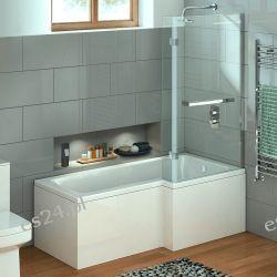 Elara Wanna z parawanem prysznicowym 170/85 cm Dom i Ogród