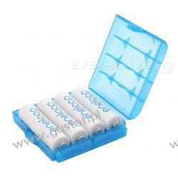 Uniwersalny pojemnik na akumulatorki R6/AA R03/AAA niebieski