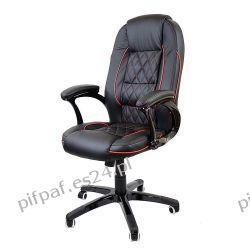 Fotel biurowy obrotowy do komputera NIGHT RED LINE Biuro i Reklama