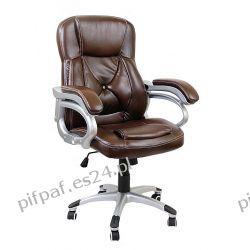 Fotel biurowy obrotowy do komputera CHESTER BROWN Biuro i Reklama