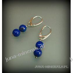 Kolczyki z lapisem lazuli - wiszące na uszkach angielskich
