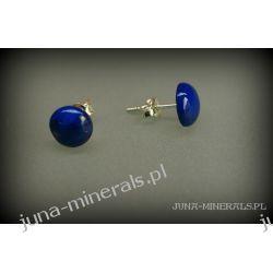 Kolczyki sztyfty lapis lazuli