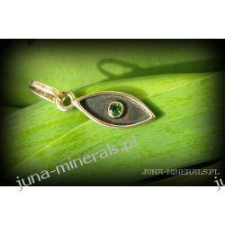 Werdelit - zielony turmalin - zawieszka Biżuteria dla Panów