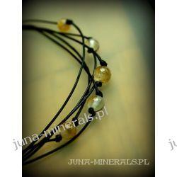 Cytryn - naszyjnik na sznurkach