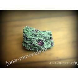 Rubin w zoizycie - surowy Skamieliny, minerały i muszle
