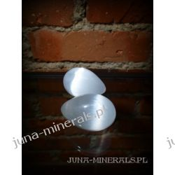Jajko z kamienia - selenit - pisanka Skamieliny, minerały i muszle