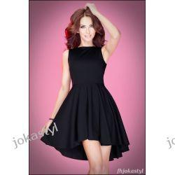 jokastyl Asymetryczna CZARNA sukienka S 36 Sukienki mini