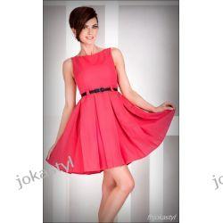 jokastyl KORAL rozkloszowana sukienka PASEK L 40 Sukienki mini