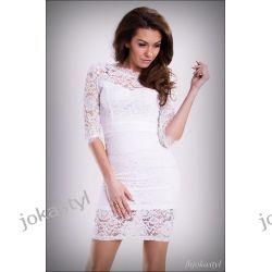 jokastyl koronkowa sukienka L 40 BIAŁA (6043765219)