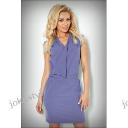 JOKASTYL Sukienka zakładany dekolt L 40 kolor jeans Sukienki mini