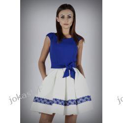 JOKASTYL efektowna dwukolorowa sukienka XS S M L  Sukienki mini