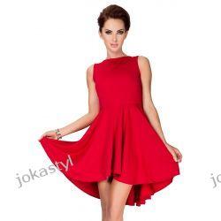 jokastyl Asymetryczna CZERWONA sukienka XL L M S