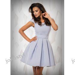 jokastyl Sukienka szara rozkloszowana XS 34 Sukienki mini
