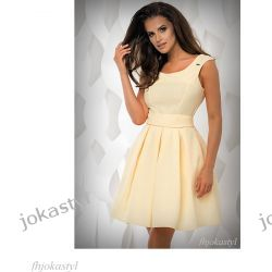 jokastyl Sukienka ŻÓŁTA rozkloszowana L 40 Sukienki mini