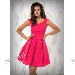 jokastyl Sukienka FUKSJA rozkloszowana S 36 Sukienki mini