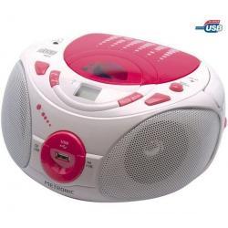 Radioodtwarzacz CD-MP3 Pop Pink różowy/biały...
