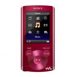 Odtwarzacz MP4 FM NWZ-E363 4 GB czerwony + Słuchawki douszne MDR-EX50LP czarne + Łącznik do gniazda jack 3.5 mm...