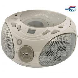 Radioodtwarzacz CD/MP3/USB Soft Grey + Bransoletka pamięć  USB Gulli...