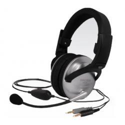 Słuchawki z mikrofonem SB49 - szare/czarne + Hub USB 4 porty BL-USB2HUB2B...