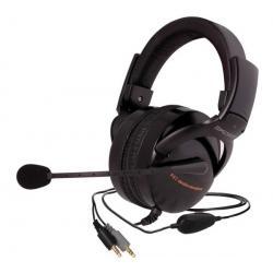 Wibrujące słuchawki z mikrofonem HQ2 - czarna + Hub USB 4 porty BL-USB2HUB2B...