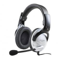 Słuchawki z mikrofonem SB45 - szare/czarne + Hub USB 4 porty BL-USB2HUB2B...