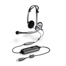 Słuchawki z mikrofonem PC .Audio DSP-400 USB (OEM) + Hub USB 4 porty BL-USB2HUB2B...