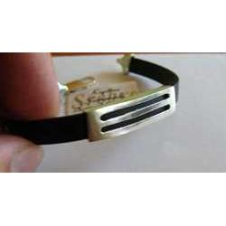 Bransoletka - srebro na gumie jubilerskiej