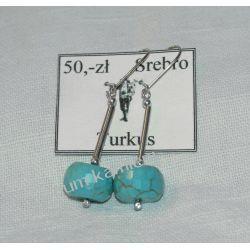 Kolczyki z turkusu w srebrze