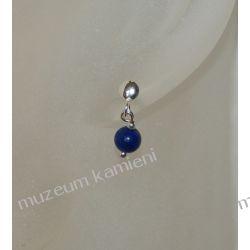 Kolczyki kuleczki z lapis lazuli w srebrze