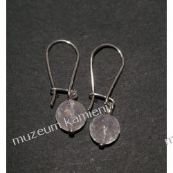 Kolczyki z kwarcu różowego w srebrze Biżuteria i Zegarki