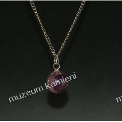 Fluoryt kulka - wisior w srebrze Biżuteria i Zegarki