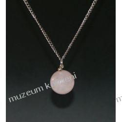 Kulka z kwarcu różowego - wisior w srebrze Biżuteria i Zegarki