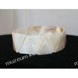 Bransoletka z masy perłowej na gumce Wisiorki