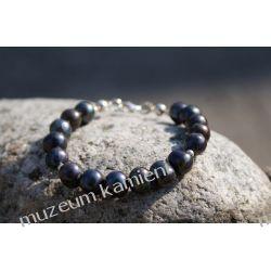 Czarne perły w srebrze Biżuteria i Zegarki