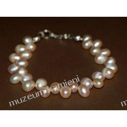 Bransoleta z pereł w srebrze B223