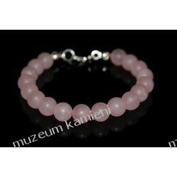 Bransoletka z kwarcu różowego w srebrze B231 Biżuteria dla Pań