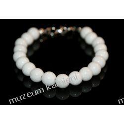Białe agaty w srebrze - piękna bransoleta B232 Biżuteria dla Pań