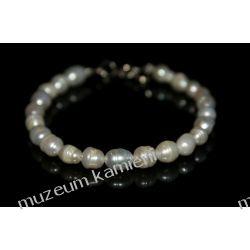 Bransoleta z pereł w srebrze B227 Biżuteria i Zegarki