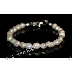 Bransoleta z pereł w srebrze B226 Biżuteria i Zegarki