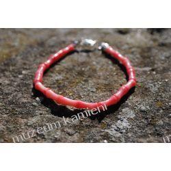 Piękna bransoleta z korala w srebrze B09 Na rękę