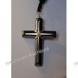 Krzyż z hematytu W005 Biżuteria i Zegarki