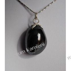 Hematyt wisior w srebrze WA065 Biżuteria i Zegarki