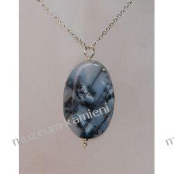 Wisior z agatu w srebrze WA111 Biżuteria i Zegarki