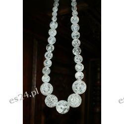 Naszyjnik z kryształu górskiego w srebrze Biżuteria i Zegarki