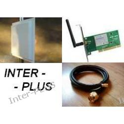Panel 18dBi.+karta TP-LINK TL-WN551G+10m.konektor.SMA-RPż/Nm.