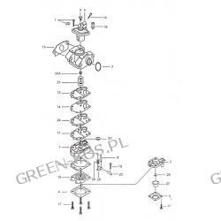 Gaźnik Efco/Oleo-Mac 25;25r  wyl-205