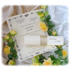 Zaproszenia ślubne zwijane w RULON (R1) Zaproszenia, zawiadomienia