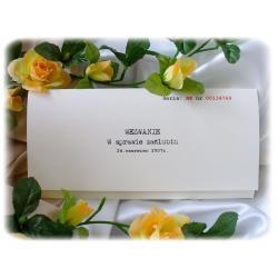 Zaproszenia ślubne w formie wezwania A4/ wezwanie w sprawie zaślubin
